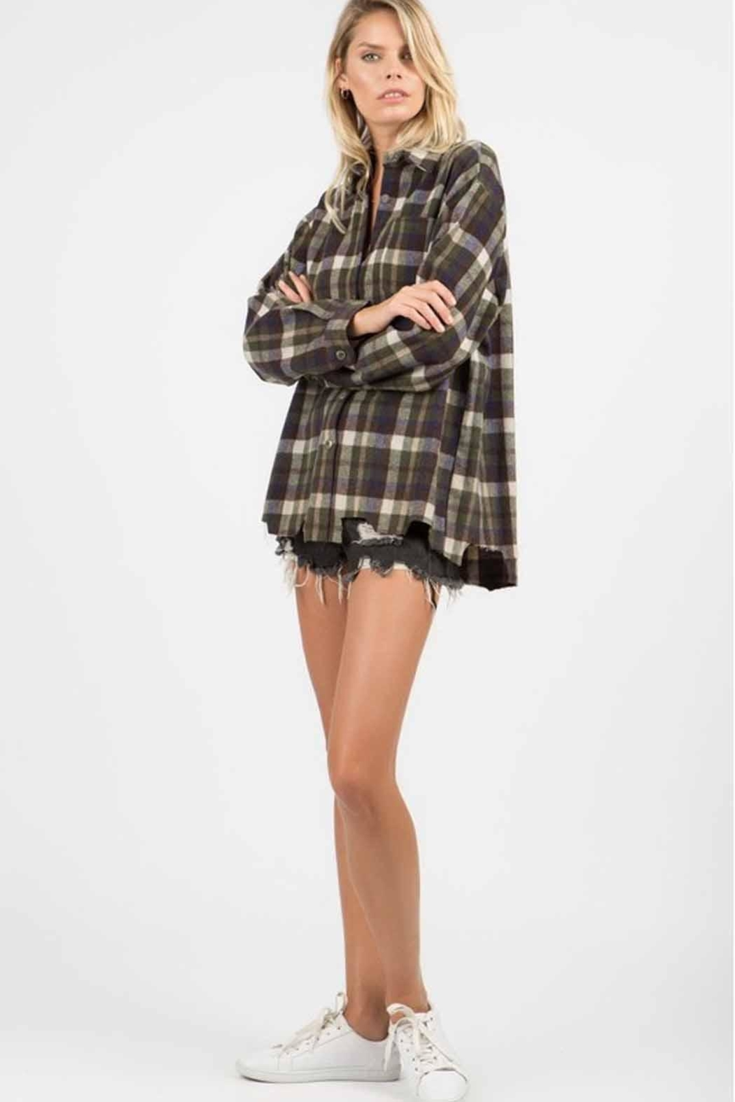 POL Distressed Flannel - Front Full Image