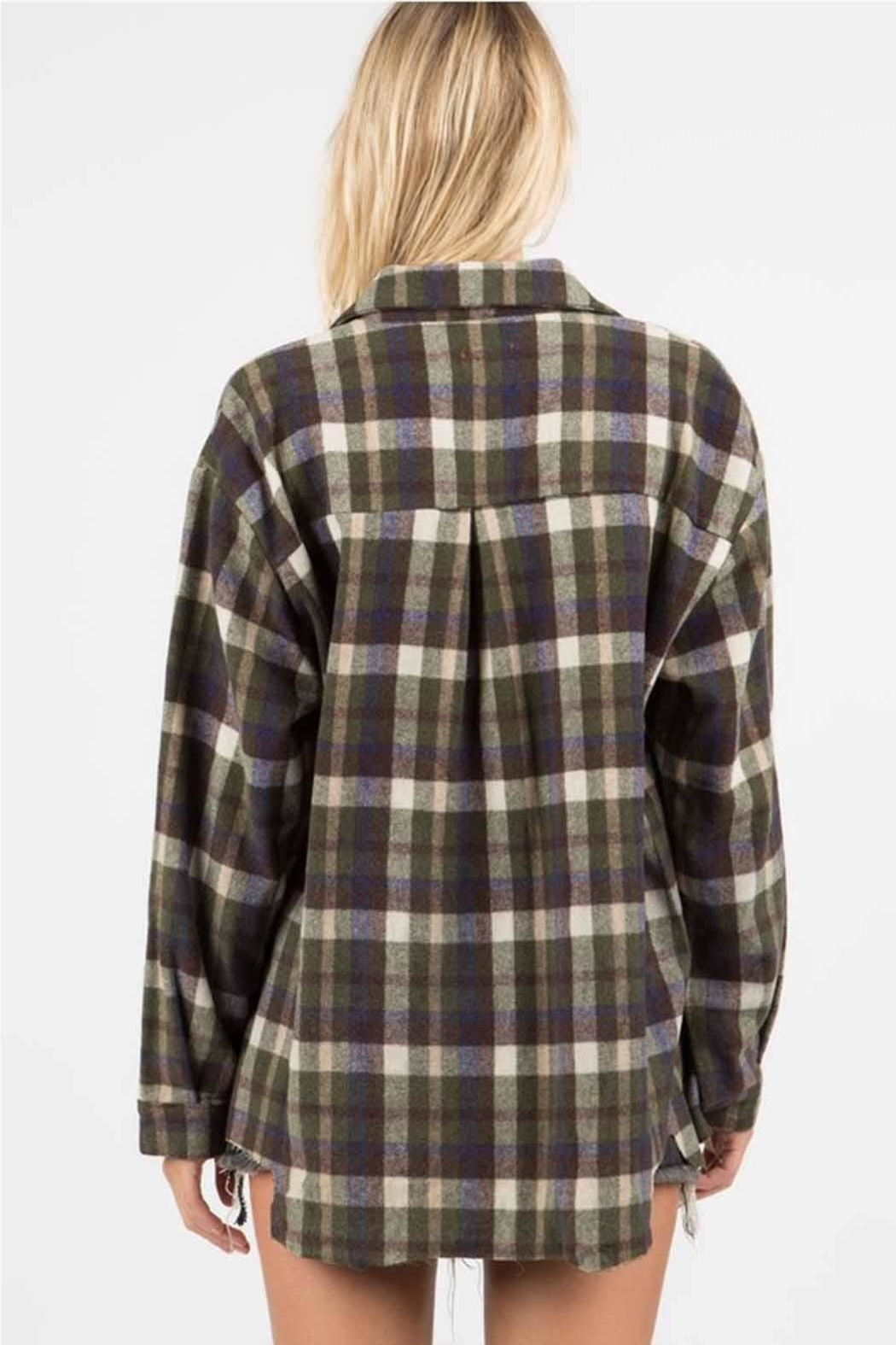 POL Distressed Flannel - Side Cropped Image