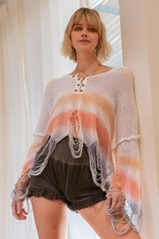 POL Distressed Lightweight Sweater - Product Mini Image