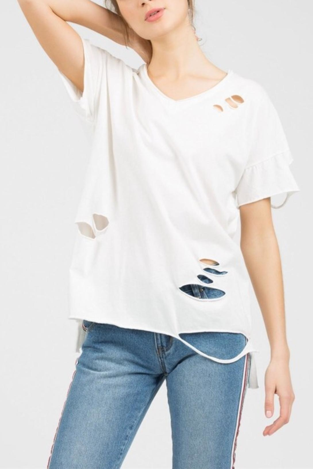 POL Distressed Tee - Front Cropped Image