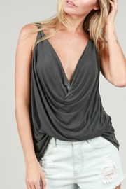 POL Draped Flowy Tank Top - Front cropped