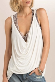 POL Draped Neckline Top - Product Mini Image