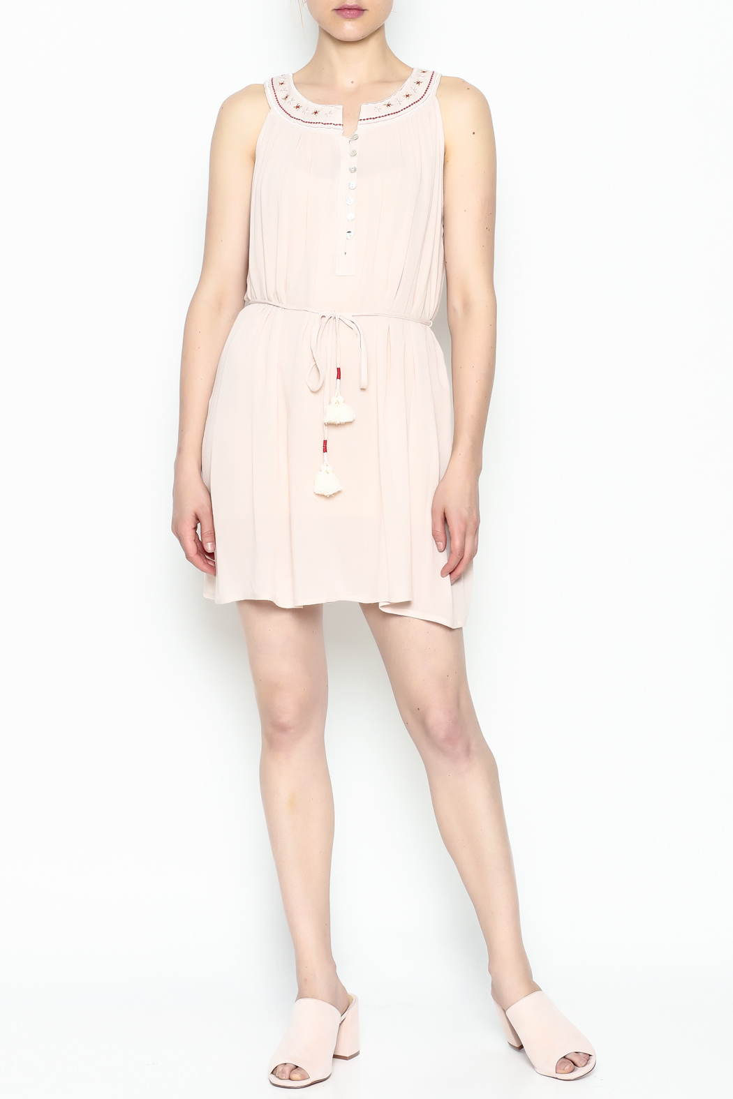 POL Embroidered Tassel Dress - Side Cropped Image