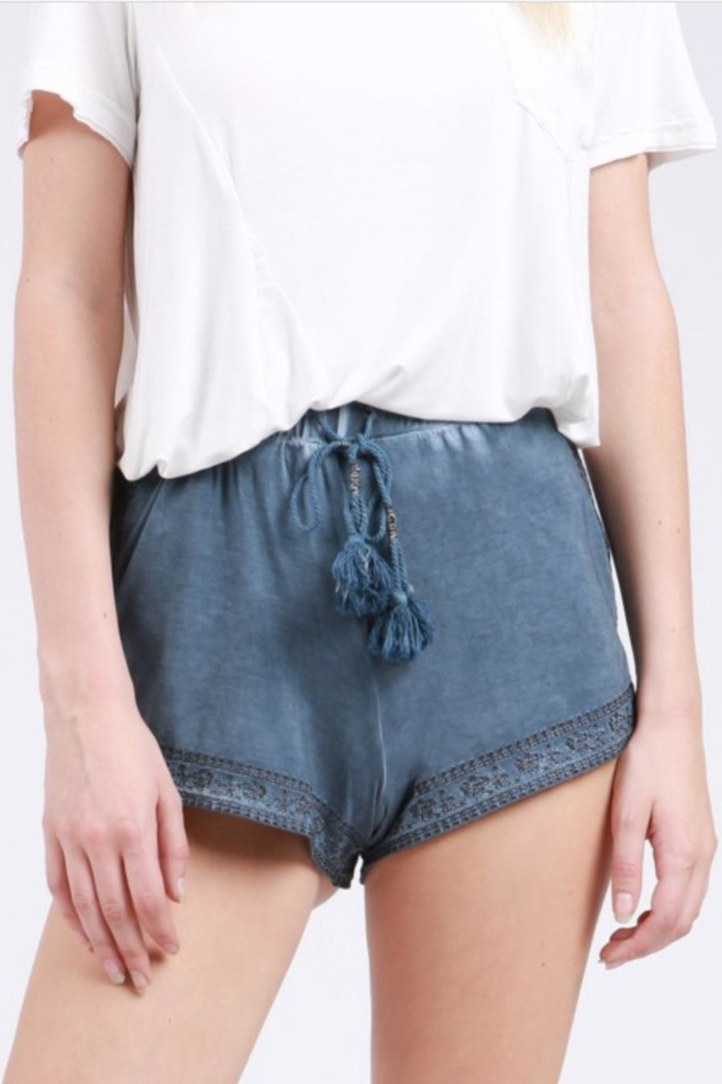 POL Embroidered Tassel Shorts - Main Image