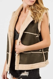 POL Faux Fur-Suede Vest - Product Mini Image