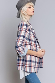 POL Flannel Plaid Jacket - Side cropped