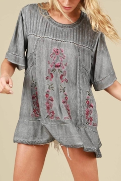 POL Floral Embroidered Top - Product List Image