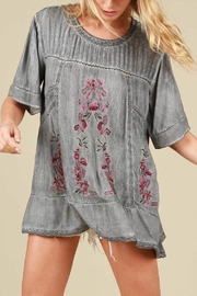 POL Floral Embroidered Top - Product Mini Image