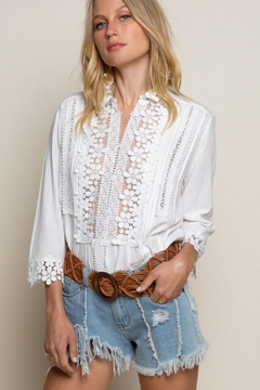 POL Floral Mock-Neck Blouse - Alternate List Image