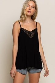 POL Flower Knit  Camisol Top - Front full body