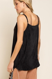 POL Flower Knit  Camisol Top - Side cropped