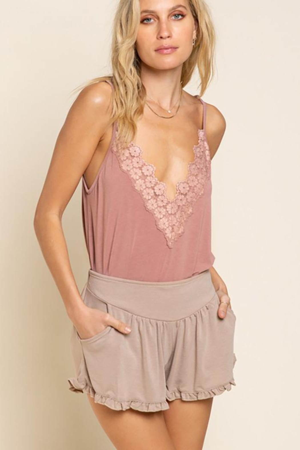 POL Flower Knit  Camisol Top - Main Image