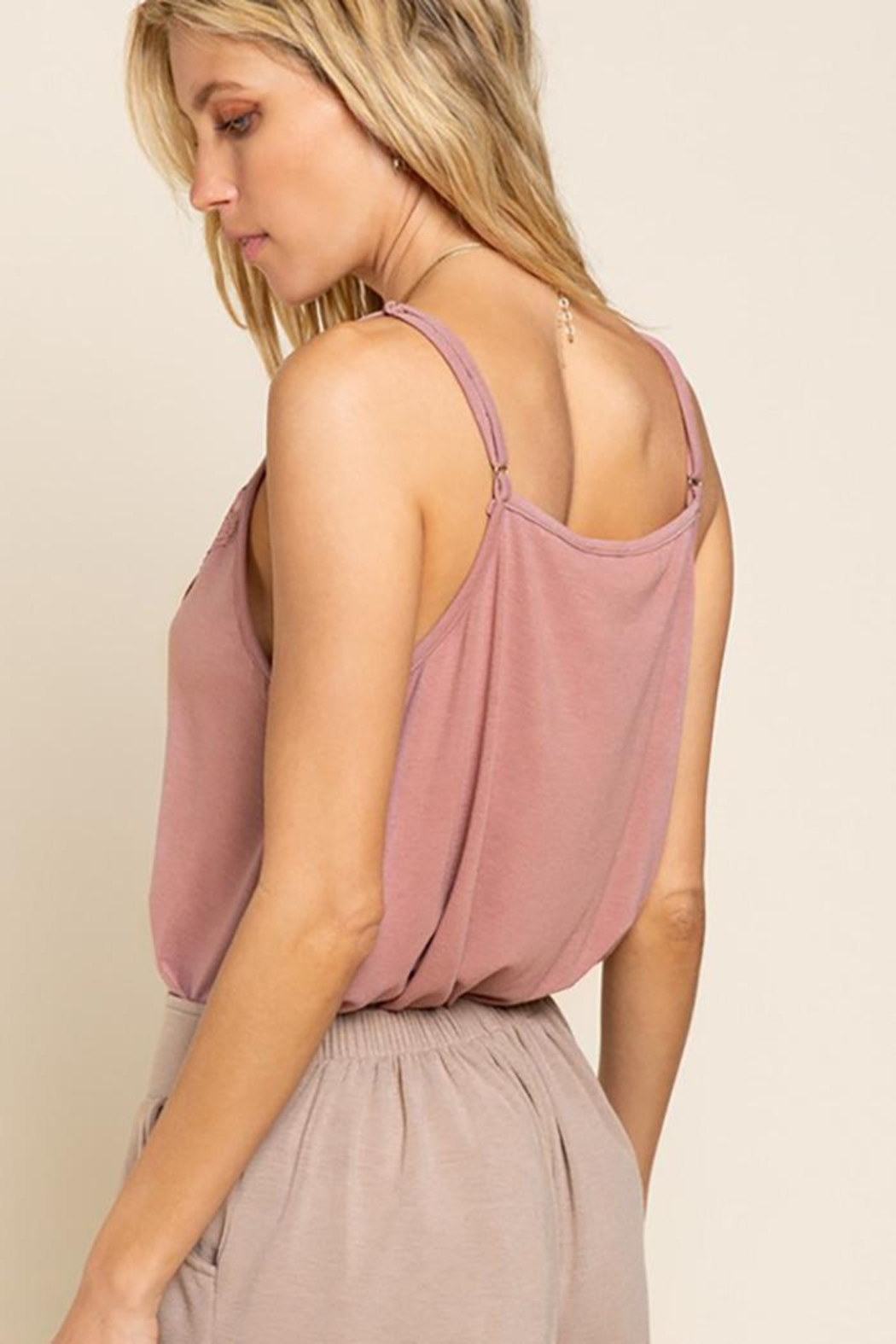 POL Flower Knit  Camisol Top - Front Full Image