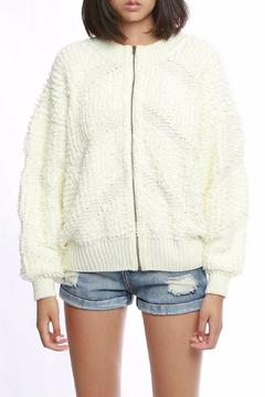 Shoptiques Product: White Fluffy Jacket