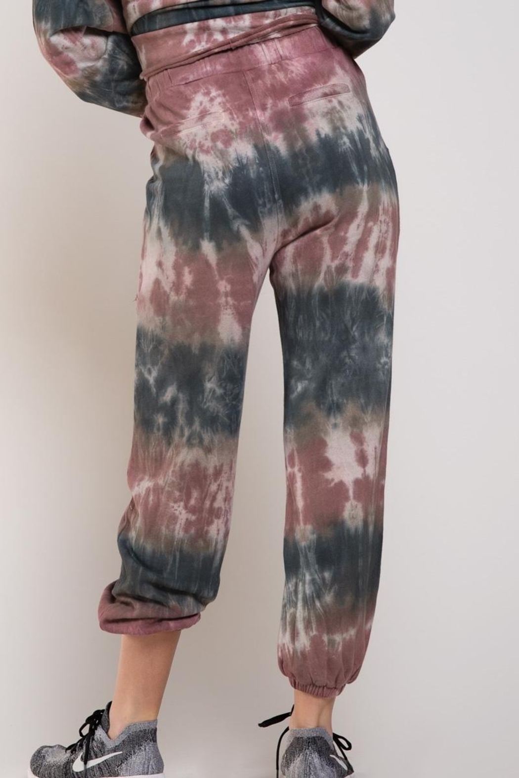 POL French Terry Tie Dye Joggers - Front Full Image