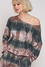 POL French Terry Top Tie Dye - Front cropped