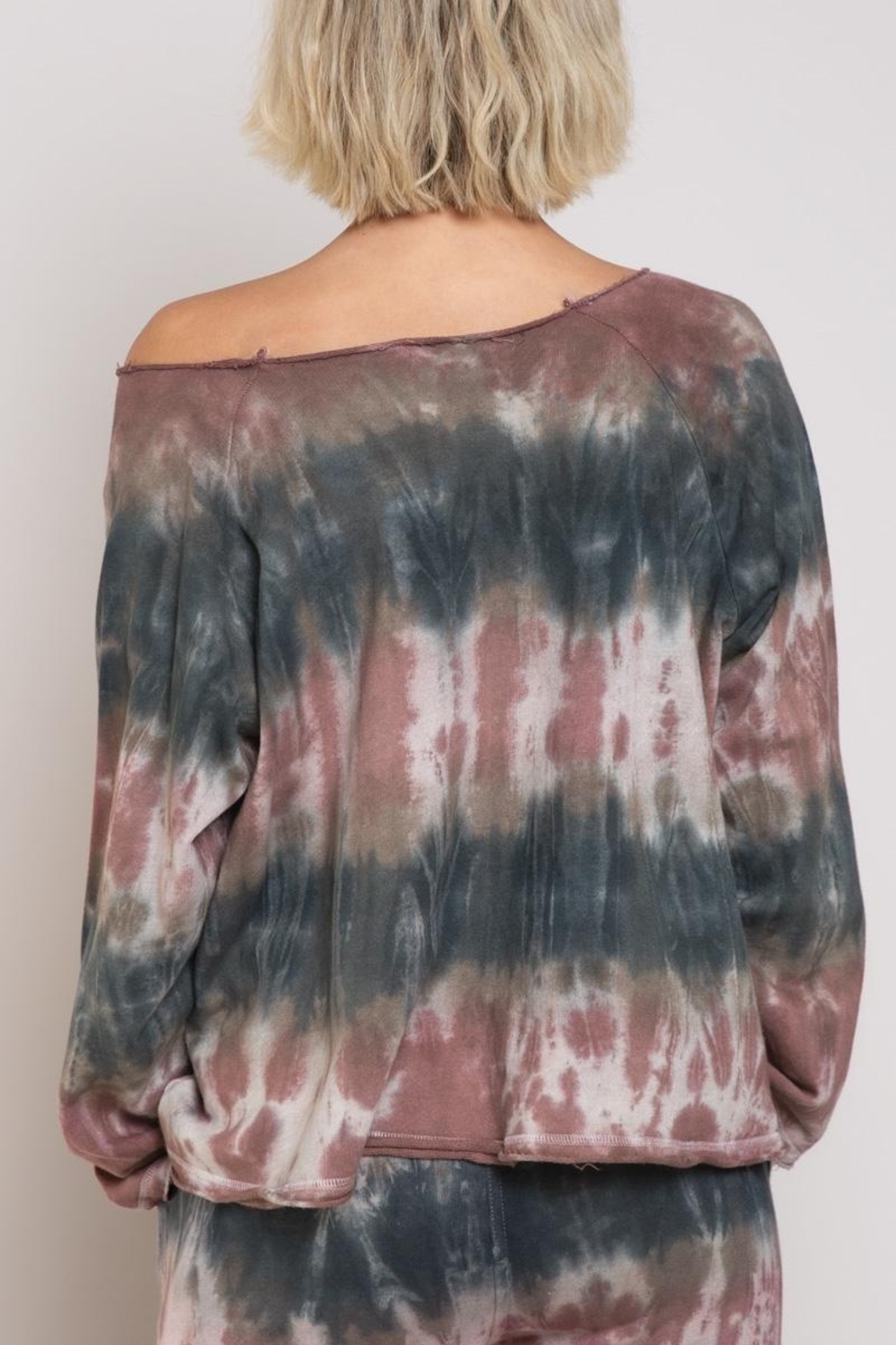 POL French Terry Top Tie Dye - Front Full Image
