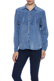 POL Fringe Denim Shirt - Product Mini Image