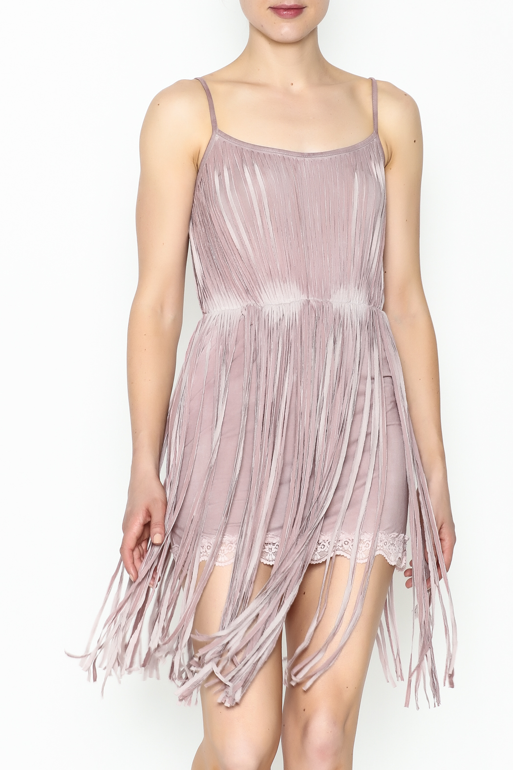 POL Fringe Slip Dress - Main Image