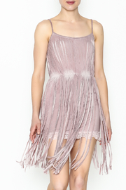 POL Fringe Slip Dress - Front cropped