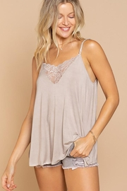 POL Front Lace Detail V Camisol - Product Mini Image