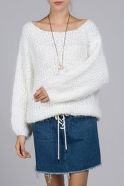 POL Fuzzy-Alpaca Wide-Neck Sweater - Product Mini Image
