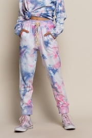 POL Galaxy Splash Joggers - Front cropped