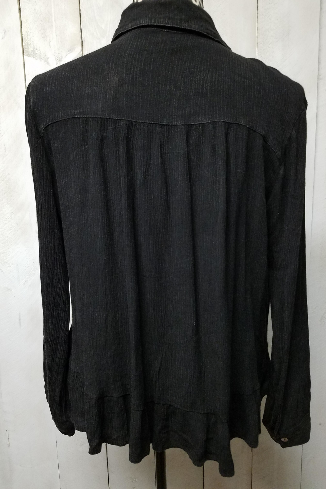 POL Gauze Button-Down Blouse - Front Full Image