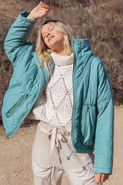 POL Green Quilted Jacket - Front cropped
