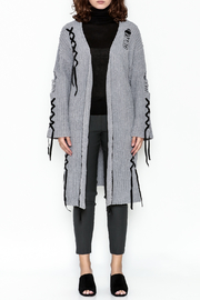 POL Grey Chenille Cardigan - Front full body