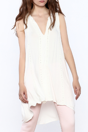 POL Ivory Sleeveless Tunic top - Product Mini Image