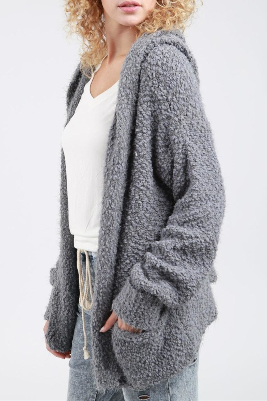 POL Hoodie Sweater - Side Cropped Image