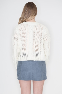 POL Ivory Cable-Knit Sweater - Alternate List Placeholder Image ...