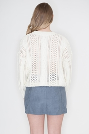 POL Ivory Cable-Knit Sweater - Side cropped