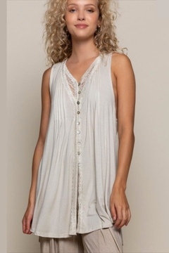 POL Lace-Detailed Sleeveless Tunic - Alternate List Image
