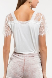 POL Lace Knit Top - Side cropped