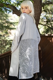POL Lace Paneled Bell Sleeve Cardigan - Side cropped
