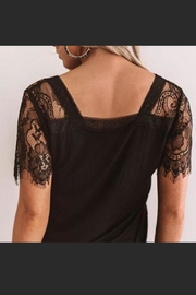 POL Lace Trim V-Neck - Other