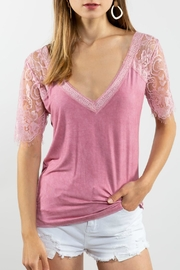 Shop Now: Laced Scallop V-Neck, featured at RMNOnline Fashion Group (#RMNOnline)