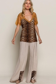 POL Leopard Printed Sweetheart Confession Knit Top - Other