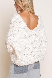 POL Long-Sleeve Knit Sweater - Back cropped