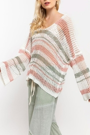 POL Multicolor Crochet Sweater - Front cropped