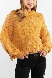 POL Mustard Crewneck Sweater Top - Front full body