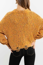 POL Mustard Crewneck Sweater Top - Side cropped