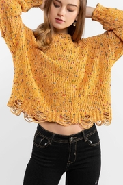 POL Mustard Crewneck Sweater Top - Front cropped