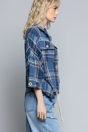 POL New School Plaid Relaxed Fit Top - Other