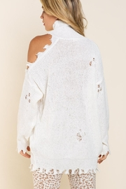 POL Off Shoulder Distressed Sweater - Product Mini Image