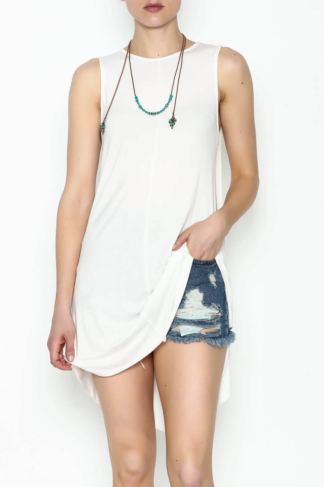 POL Open Back Dress/Top - Front Cropped Image