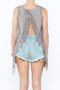 Shoptiques Product: Grey Open Back Shirt