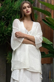 POL Open Weave Knit Kimono Cardigan - Other